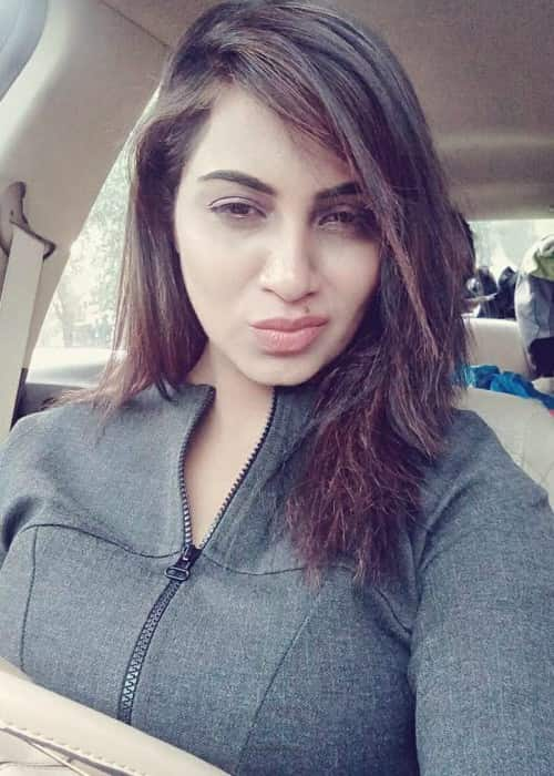 Arshi Khan in an Instagram selfie in January 2018