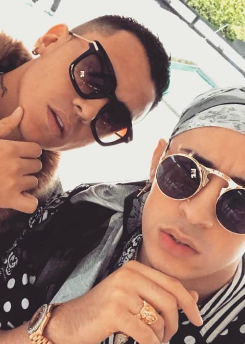Bad Bunny (Right) and Kevin Roldan KR in an Instagram selfie in March 2017