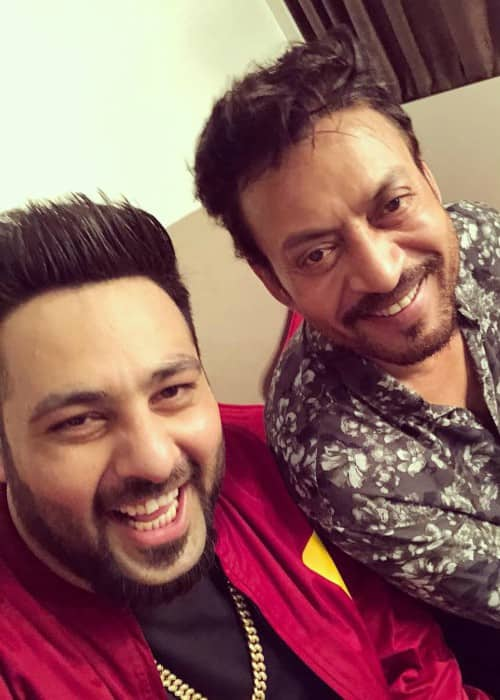Badshah (Left) and Irrfan Khan in an Instagram selfie in January 2018
