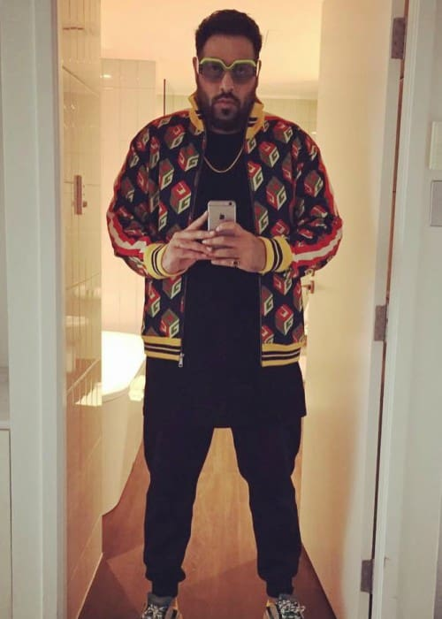 Badshah in an Instagram selfie as seen in November 2017