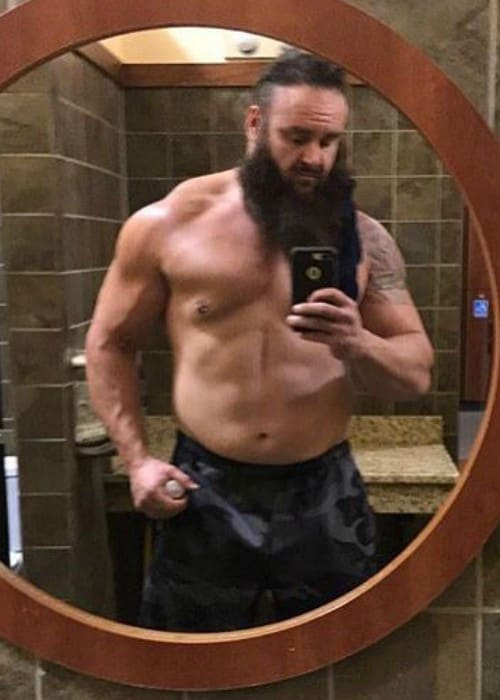 Braun Strowman in an Instagram selfie as seen in September 2017