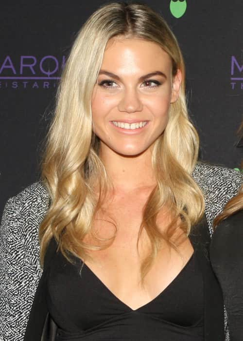 Brooke Nash at the Dom Perignon Masquerade Party in August 2015