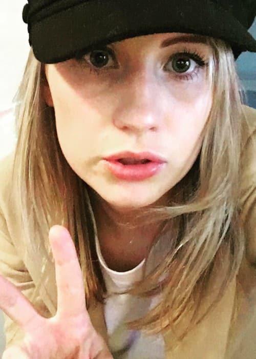 Callie Cooke in an Instagram selfie in September 2017