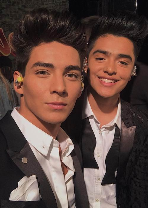 Chance Perez and Sergio Calderon (Right) during an event in August 2017