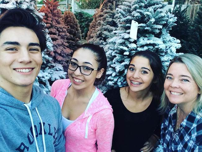 Chance Perez during a Christmas tree shopping with family in December 2015