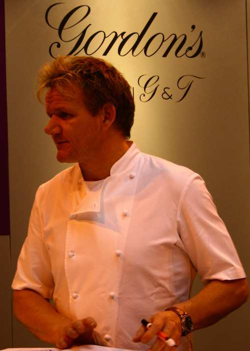 Chef Gordon Ramsay at his restaurant Gordon's