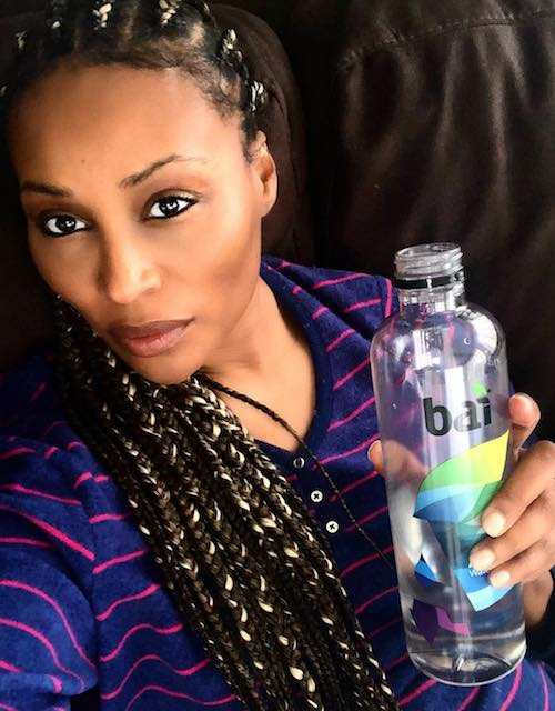 Cynthia Bailey drinking bai water as seen in January 2018