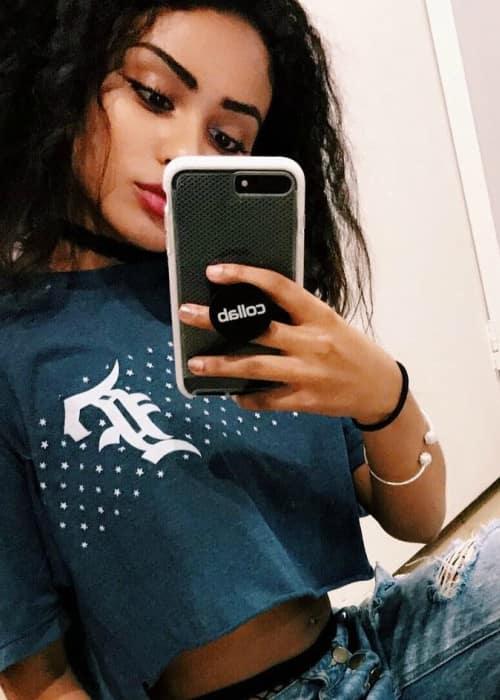 Daniella Perkins in an Instagram selfie in Jnauary 2017