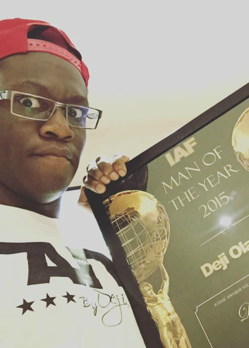 Deji Olatunji in an Instagram selfie as seen in January 2016