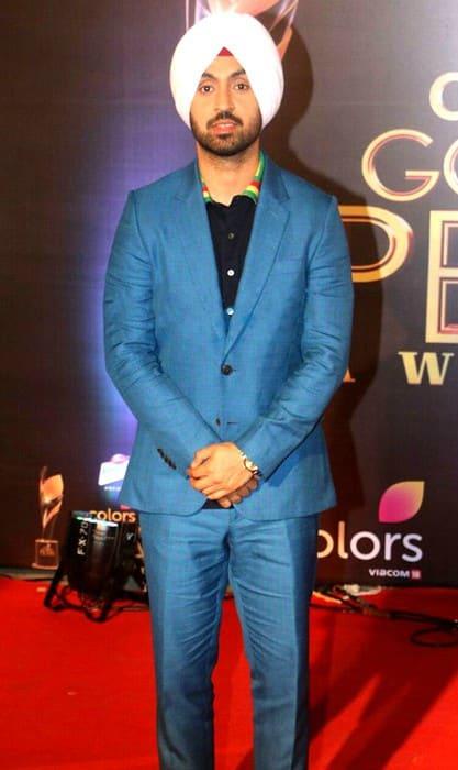 Diljit Dosanjh at Colors Golden Petal Awards in April 2017