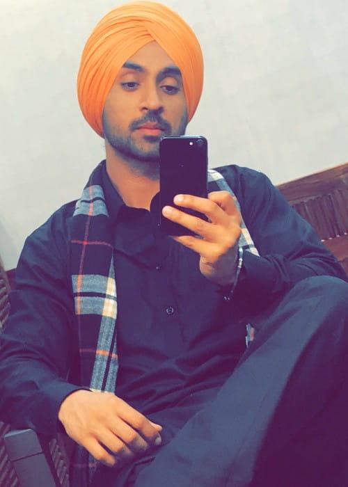 Diljit Dosanjh in an Instagram selfie as seen in November 2017