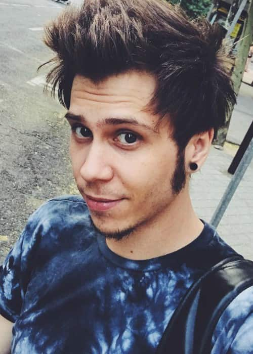 El Rubius in an Instagram selfie in July 2017