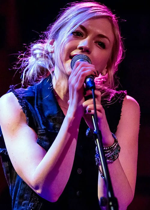 Emily Kinney during a performance at Rockwood Music Hall in February 2014
