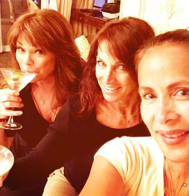(From Left) Valerie Bertinelli, Kimmie, and Lisa Ashley enjoying their time in July 2017