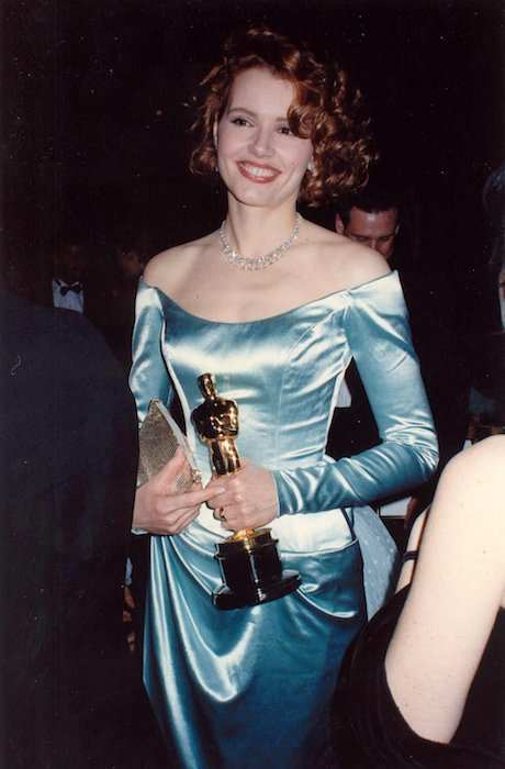 Geena Davis at the Academy Awards in 1989