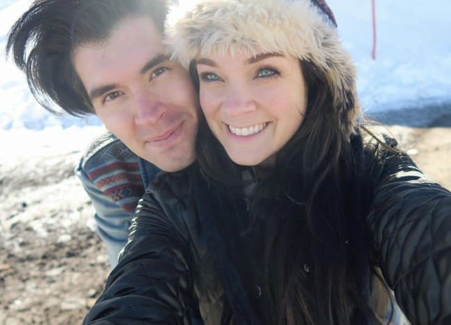 German Garmendia and Lenay Chantelle Olsen in an Instagram selfie in June 2017