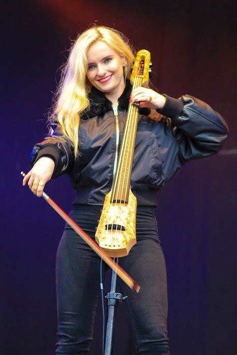 Grace Chatto as a member of Clean Bandit performing at Festival T in the Park, UK in 2014