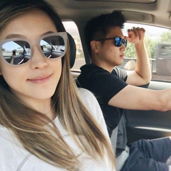 Ha Young Choi and Ki Hong Lee in shades as seen in August 2016