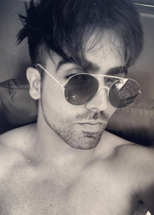 Harrdy Sandhu in an Instagram selfie as seen in December 2017