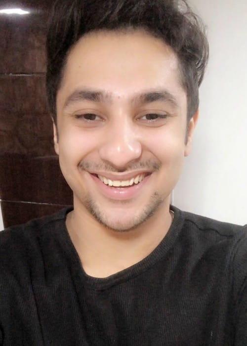 Harsh Beniwal in an Instagram selfie as seen in January 2018
