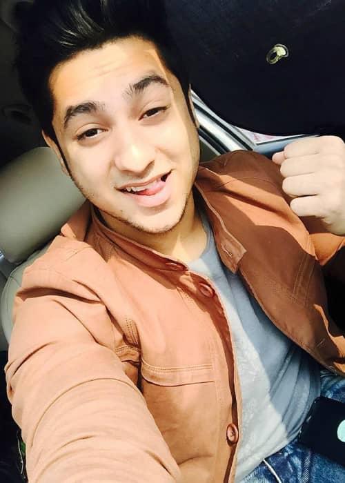 Harsh Beniwal in an Instagram selfie in December 2015