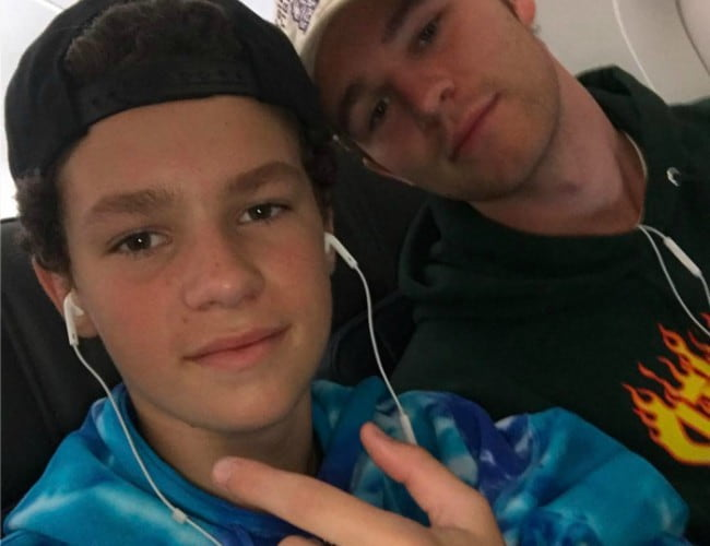Hayden Summerall (Left) and Hunter Summerall in an Instagram selfie in June 2017