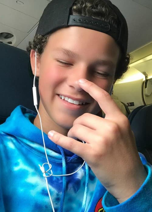 Hayden Summerall in an Instagram selfie as seen in July 2017
