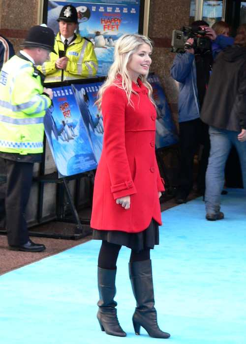 Holly Willoughby at Happy Feet Premiere in November 2006
