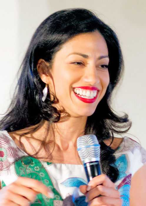 Huma Abedin at 2016 Pre Hillary Clinton Speech at Democratic National Convention in July 2016