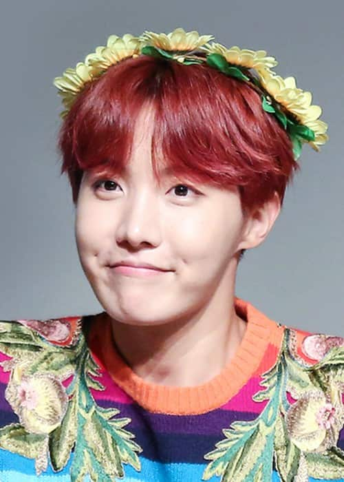 J-Hope at a fanmeet in Myeongdong on September, 30 2017