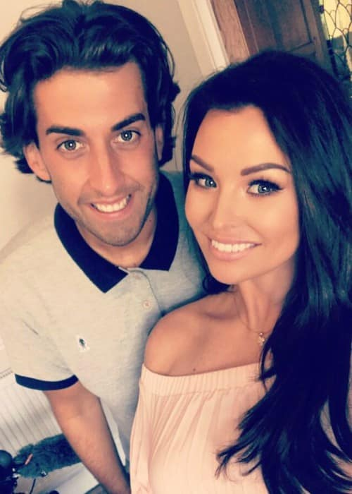 James Argent (Left) and Jessica Wright in an Instagram selfie as seen in July 2017