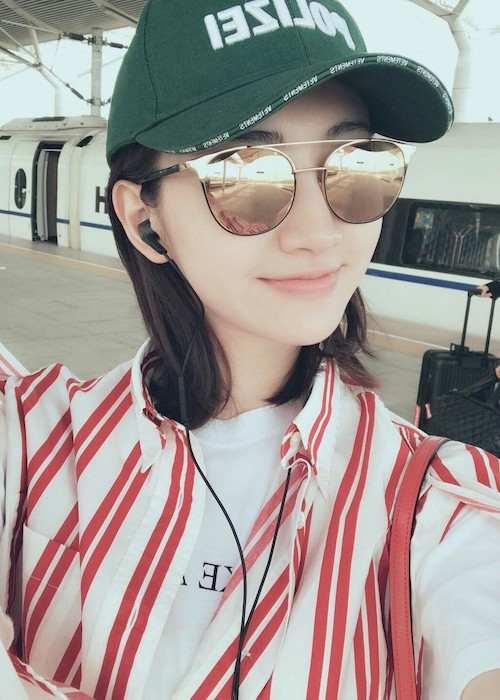 Jing Tian in a selfie in April 2017