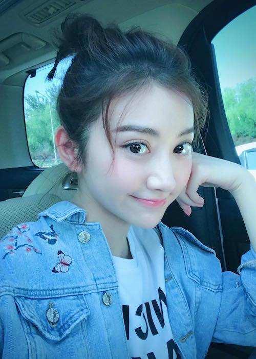 Jing Tian looking cute in a May 2017 selfie