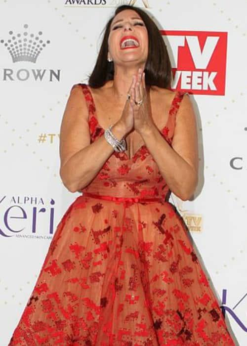 Julia Morris at the TV Week Logie Awards in May 2016