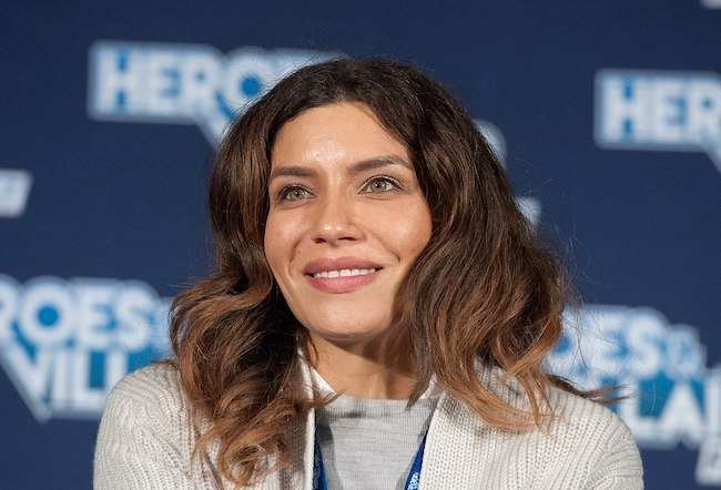 Juliana Harkavy at the Heroes & Villains event in 2017