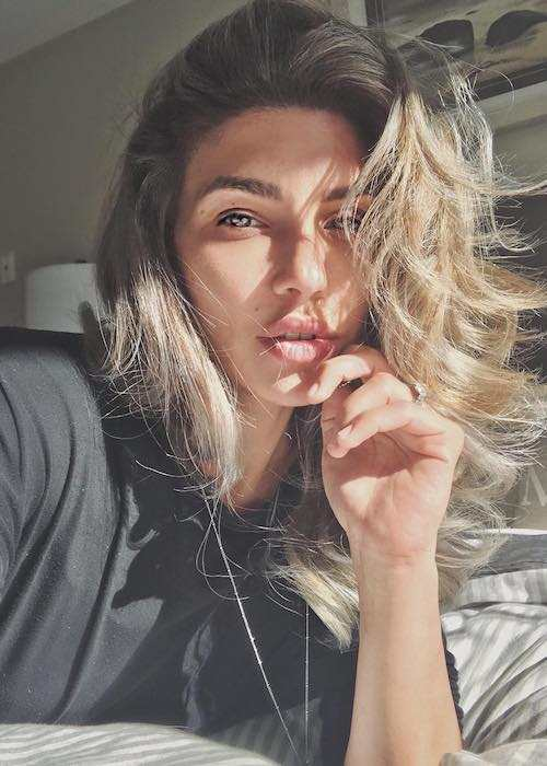 Juliana Harkavy in an Instagram selfie in July 2017