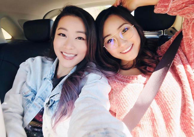 Karen Fukuhara hanging out with her friend Arden Cho as seen in March 2017