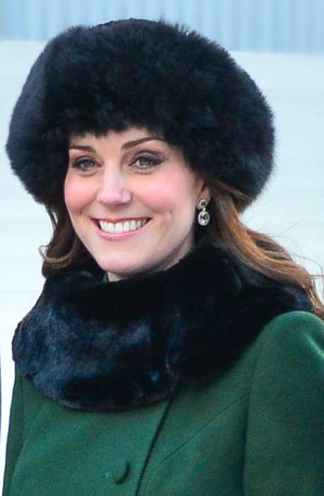 Kate Middleton during her visit to Stockholm in Sweden in January 2018