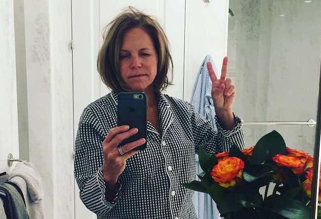 Katie Couric makeup free selfie