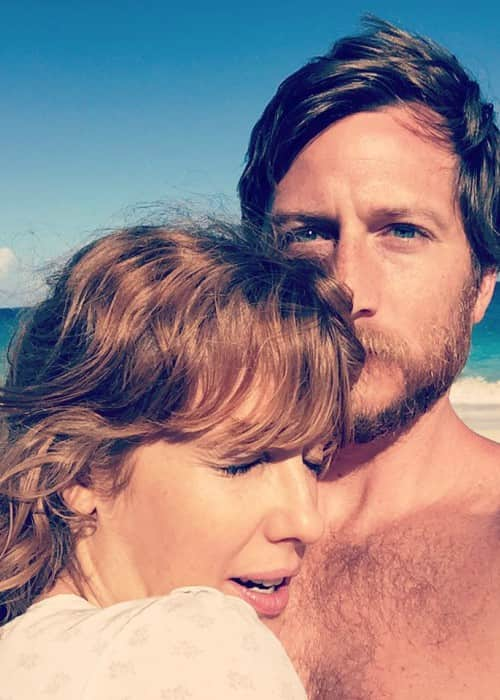 Kelly Reilly and Kyle Baugher in an Instagram selfie in January 2018