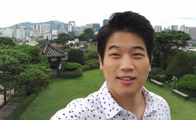 Ki Hong Lee in the July 2016 selfie showing scenic beauty of Korea