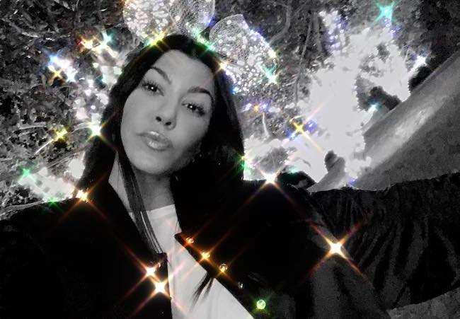 Kourtney Kardashian in a January 2018 selfie