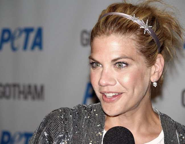Kristen Johnston at a PETA event in 2008