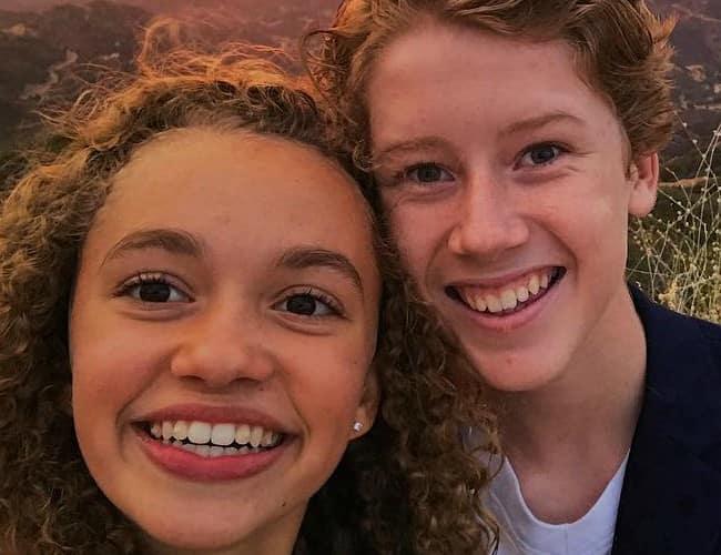Ky Baldwin and Jillian Shea Spaeder in an Instagram selfie in December 2017