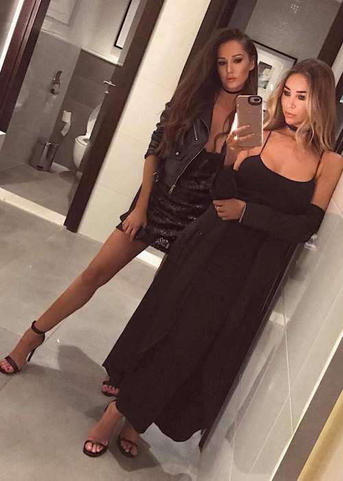 Lauren Pope (Right) in an Instagram selfie with Kellie Acreman in February 2017