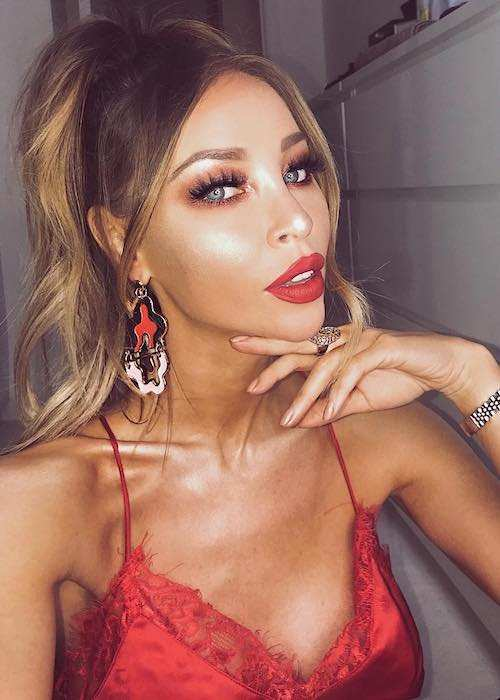 Lauren Pope in an Instagram selfie in January 2018
