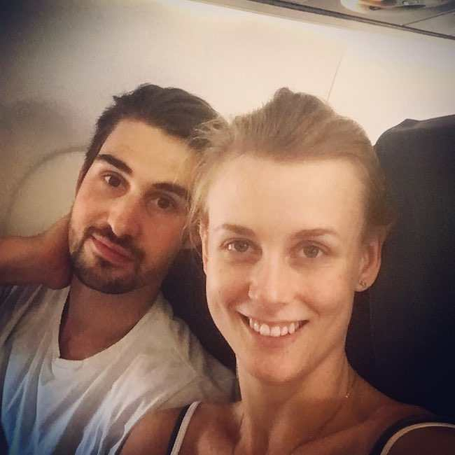Madison Hubbell and former boyfriend Zachary Donohue in a selfie in September 2017