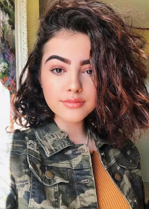 Malu Trevejo in an Instagram selfie in December 2017