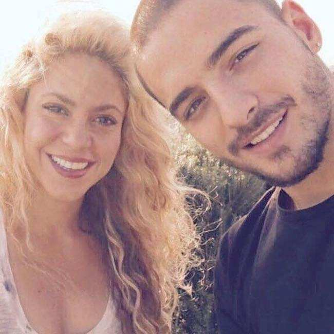 Maluma in a picture with Shakira