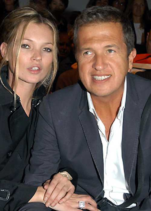 Mario Testino with supermodel Kate Moss as seen in 2007